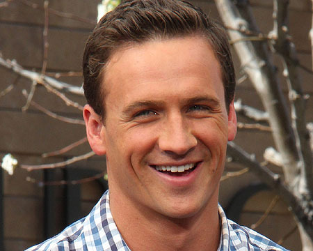 """Ryan Lochte visited """"Extra"""" at The Grove."""