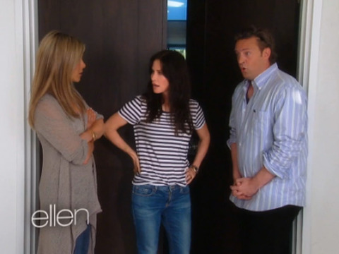 Video! Jennifer Aniston's Awkward 'Friends' Reunion on 'Ellen'