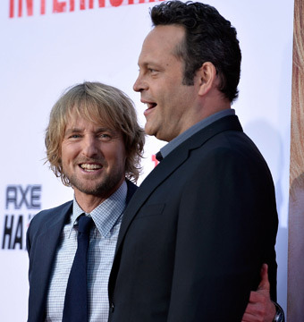 """Owen Wilson and Vince Vaughn arrived to the premiere of """"The Internship"""" in…"""