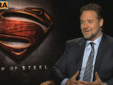 'Man of Steel': Russell Crowe's 'Holy S**t' Moment Playing…
