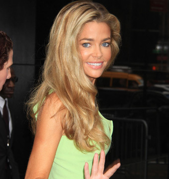 "Denise Richards visited ABC studios for an appearance on ""Good Morning America""…"