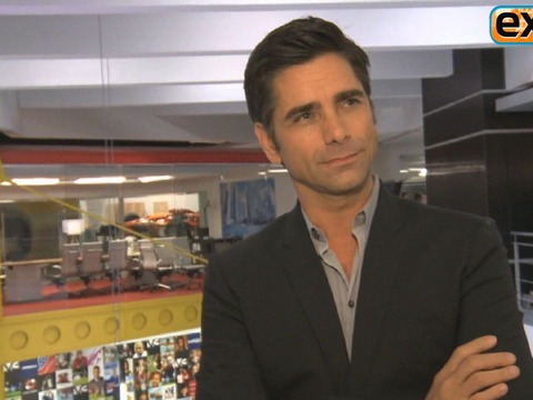 John Stamos on the Set of 'Necessary Roughness'