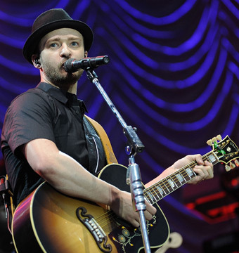 Justin Timberlake performed at the Yahoo! Wireless Festival at Queen Elizabeth…