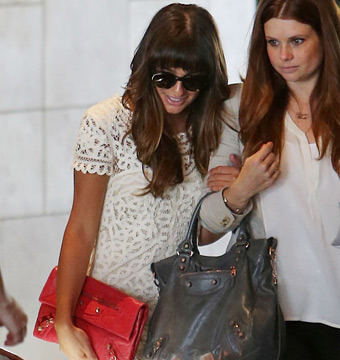 Lea Michele Attends Jamie-Lynn Sigler's Beverly Hills Baby Shower