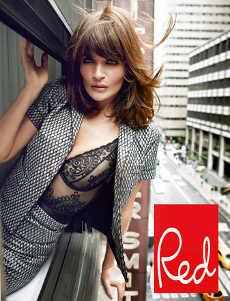 Pics Helena Christensen S Nearly Naked Photo Shoot Is Red
