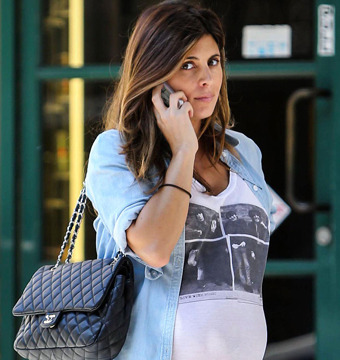 Jamie-Lynn Sigler showed off her baby bump in Beverly Hills on Monday.