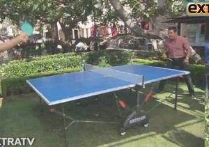 L.A. Dodger Clayton Kershaw Trades Baseball for Ping Pong