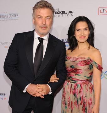 """Alec and Hilaria Baldwin attended the Elton John AIDS Foundation's """"An Enduring…"""
