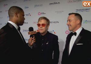 On the Red Carpet at Elton John AIDS Foundation Gala