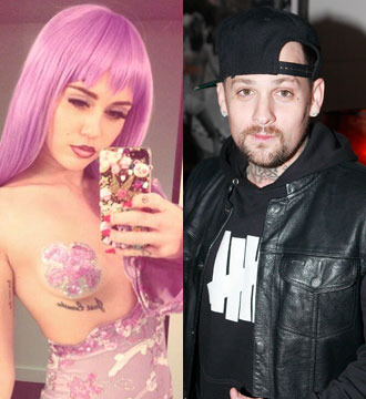 New Hookup! Miley Cyrus and Benji Madden Caught Kissing on Halloween