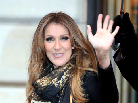 Celine Dion left her Paris hotel with husband Rene and their son Rene-Charles…