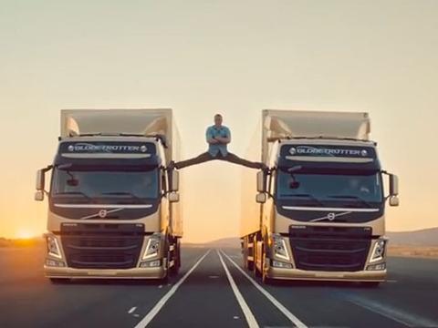 'Epic' Video! Jean-Claude Van Damme Does the Splits Between Two Trucks