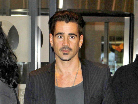 Colin Farrell was snapped leaving the BBC Radio 1 studios.