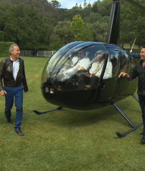 Take a Helicopter Tour of Hollywood's Best Mansions
