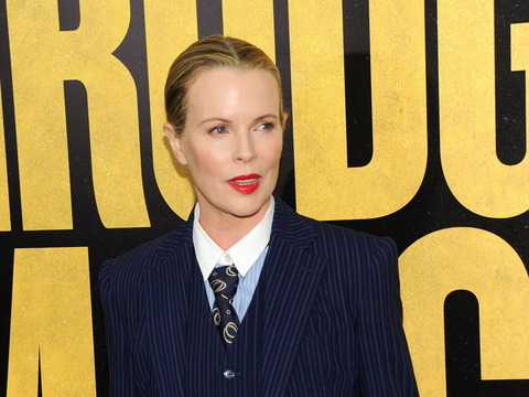 Pic! Kim Basinger Looks Dramatic in a Three-Piece Suit