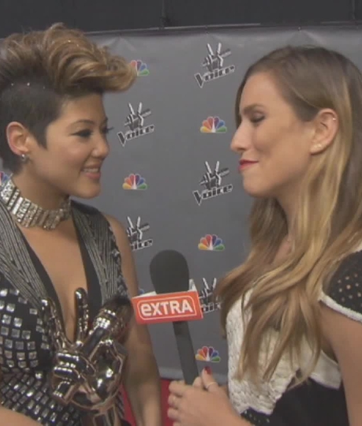 Backstage at 'The Voice' Finale with Winner Tessanne Chin and Adam Levine