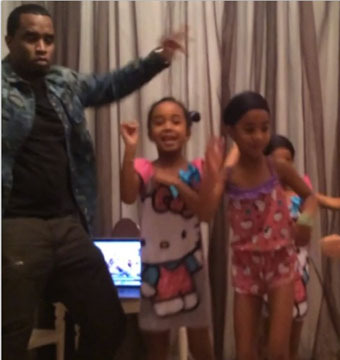 Cute Alert! Sean 'Diddy' Combs Dances with Daughters at Slumber Party