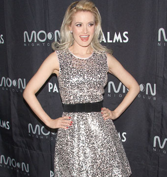 Holly Madison celebrated her birthday at Moon Nightclub inside Palms Casino…