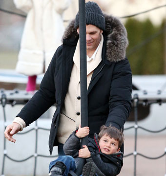 New England Patriots quarterback Tom Brady enjoyed a day in the park with his…