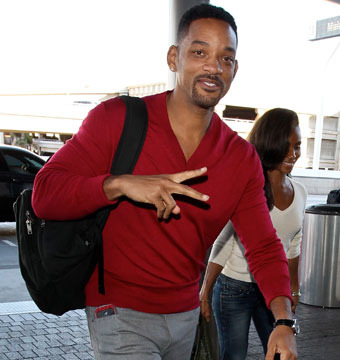 Will Smith and Jada Pinkett were all smiles at LAX.
