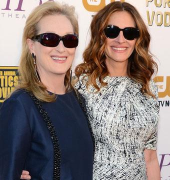 Meryl Streep and Julia Roberts hit the red carpet at the Critics' Choice Movie…