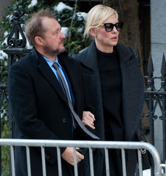 Stars Attend Philip Seymour Hoffman's Private Funeral in NYC