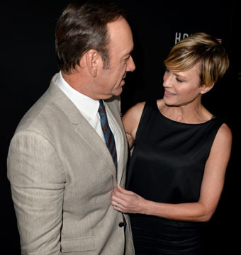 "Kevin Spacey and Robin Wright celebrated ""House of Cards"" Season 2 at a special…"