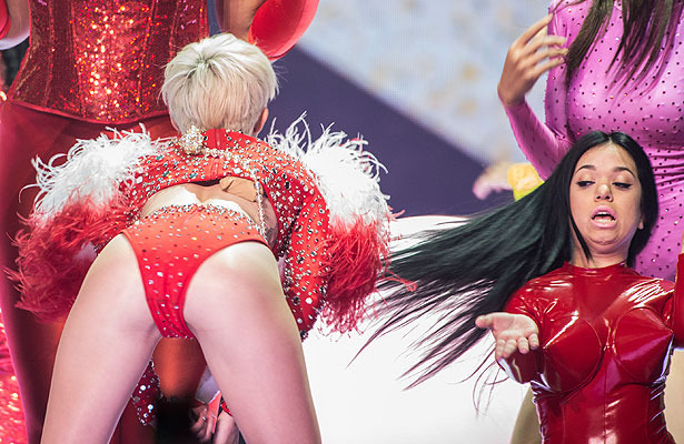 Pics! Miley Cyrus Twerks Out All the Stops in Bangerz