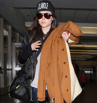 """""""X-Men"""" star Ellen Page touched down at LAX on Tuesday."""