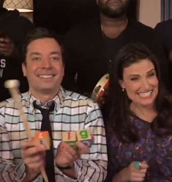 Video! Jimmy Fallon and Idina Menzel Jam to Oscar-Winning Song 'Let It Go'