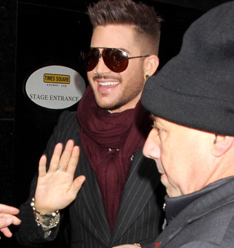 New Queen frontman Adam Lambert looked both edgy and dapper as he arrived to…
