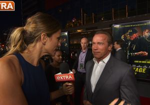 'Extra' Hangs With Arnold and His Co-Stars at 'Sabotage' Premiere