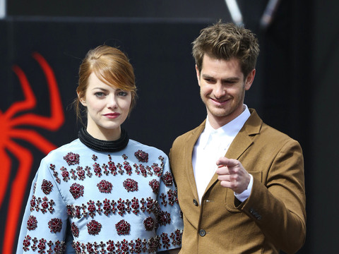 "Emma Stone and Andrew Garfield attended ""The Amazing Spider-Man 2: Rise of…"