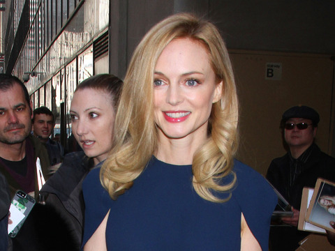 """Heather Graham visited NBC Studios for an appearance on the """"Today Show"""" on…"""