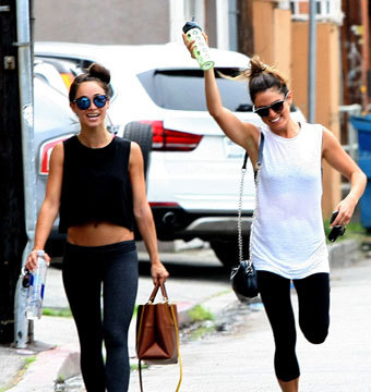 Cara Santana and Nikki Reed were spotted leaving Laurel Gym after a work out in…