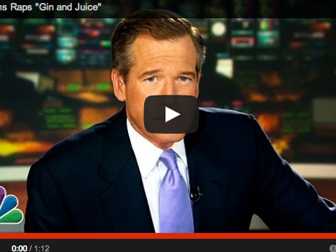 Silly Video! Brian Williams Raps to Snoop Dogg's 'Gin and Juice'
