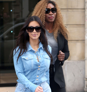 Kim Kardashian and Serena Williams were spotted shopping at Lanvin in Paris on…