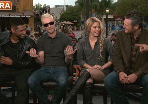 'The Voice' Coaches Joke About Adam Levine's Blonde Hair