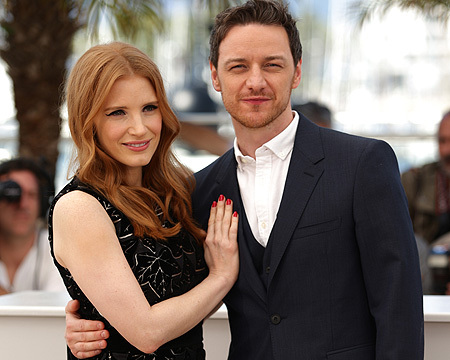"""James McAvoy and Jessica Chastain promote their film """"The Disappearance of…"""