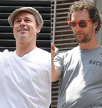Viral Video! Brad Pitt Tossing a Beer to Matthew McConaughey