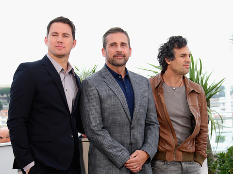 "Channing Tatum, Steve Carrell and Mark Ruffalo promoted ""Foxcatcher"" at the…"