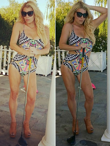 870a66a0233c9 Jessica Simpson Shows Off Muscular Legs in New Swimsuit Pics! Has She Gone  Too Far? | ExtraTV.com