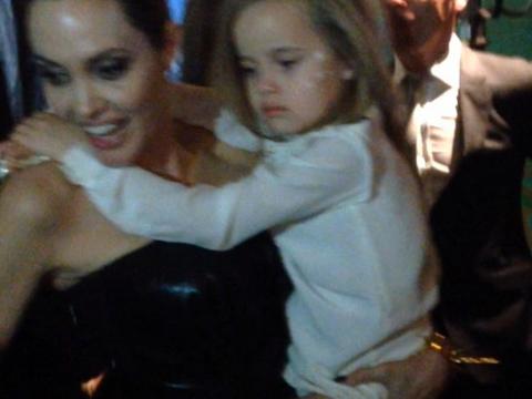 Angelina Jolie Carries Daughter Vivienne Jolie Pitt At