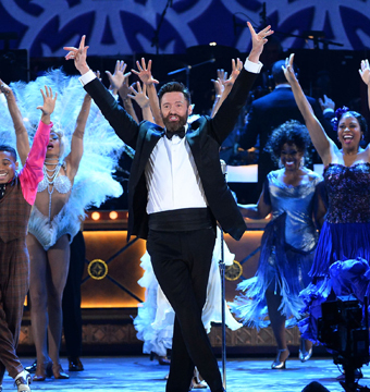 Hugh Jackman hosted the Tony Awards in NYC on Sunday.