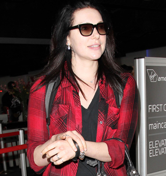 """Orange Is the New Black"" star Laura Prepon touched down in L.A."