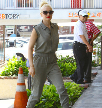 Gwen Stefani stopped by an acupuncture studio in L.A.
