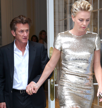 Sean Penn and GF Charlize Theron visited the Christian Dior showroom in Paris.