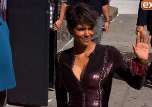 Look! Halle Berry Stuns in Sexy, Shimmering Dress at 'Letterman'