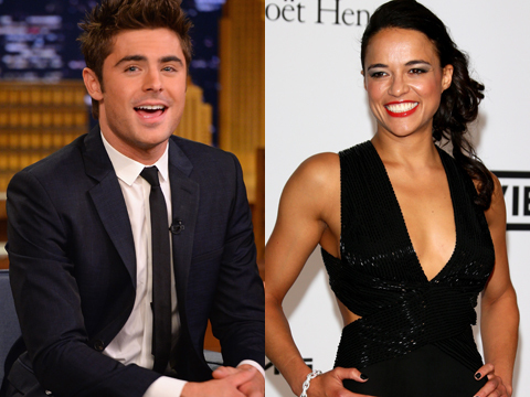 Hot Hookup! Zac Efron Spotted Making Out with Michelle Rodriguez in Italy