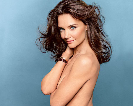 Katie Holmes' Sexy Topless Look for Glamour Magazine